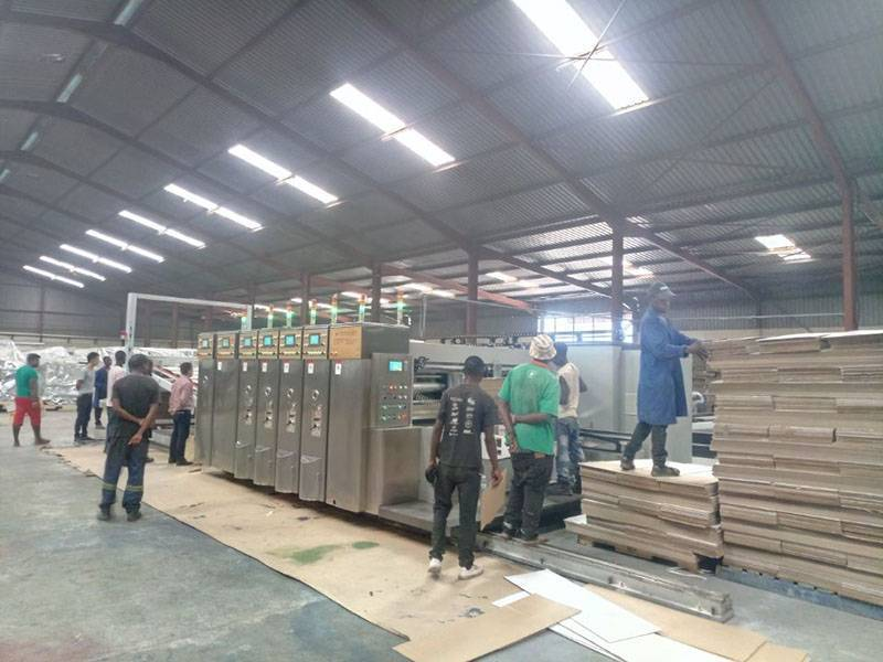 Africa Zambia.  (OFF LINE FOLDER GLUER) PL-Y5 0920 High Speed Flexo printer Slotter Die Cutter Stacker.  YEAR 2016