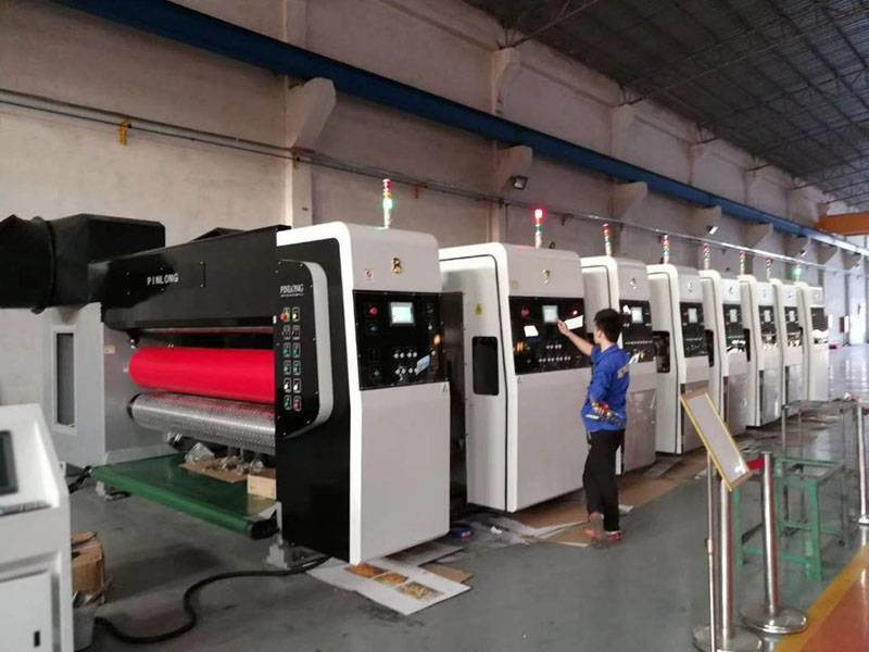 CHINA YunNan PL-GP 1628 HIGH GRAPHIC PRINTER SLOTTER DIE CUTTER.  YEAR 2016